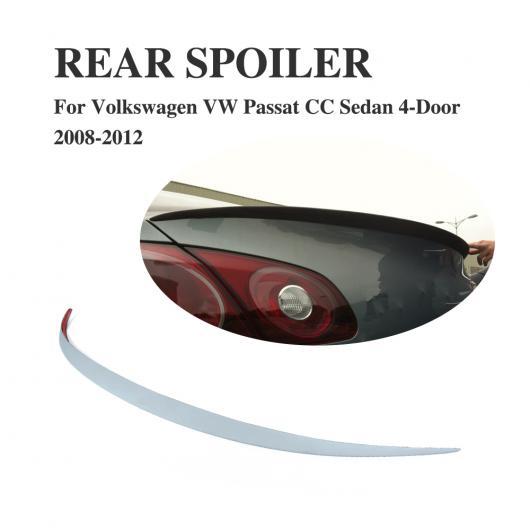 AL 車用外装パーツ リア トランク ブート リップ スポイラー ウイング 適用: フォルクスワーゲン VW パサート CC セダン 4ドア 2008-2012 PU 未塗装 グレー AL-DD-7867