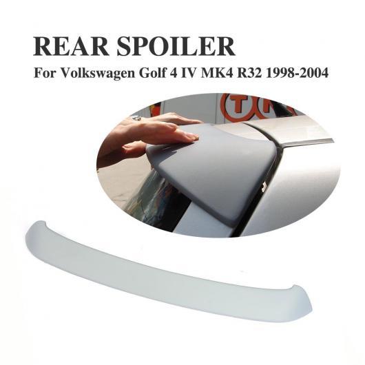 AL 車用外装パーツ 適用: フォルクスワーゲン VW ゴルフ 4 IV MK4 スタンダード R32 1998-2004 リア ルーフ スポイラー ウインドウ ウイング PU 未塗装 グレー AL-DD-7868