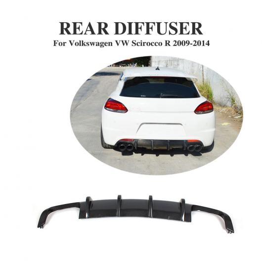 AL 車用外装パーツ カーボンファイバー リア バンパー ディフューザー リップ エプロン 適用: フォルクスワーゲン VW シロッコ R 2009-2014 AL-DD-7870