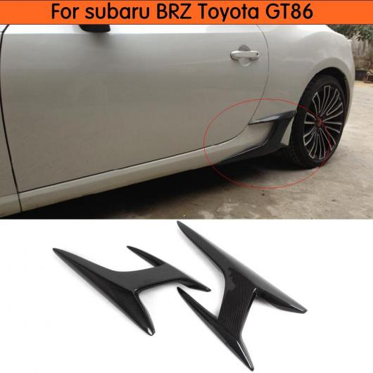 AL 車用外装パーツ カーボンファイバー サイド スカート スポイラー 適用: トヨタ 86 2013-2017 サイド ウイング 適用: スバル BRZ 適用: サイオン GT86 サイド スカート 装飾 AL-DD-7888