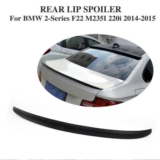 AL 車用外装パーツ リア ブート スポイラー トランク リップ ウイング 適用: BMW 2 シリーズ F22 M235i 220i 2014-2015 ABS ブラック AL-DD-7899