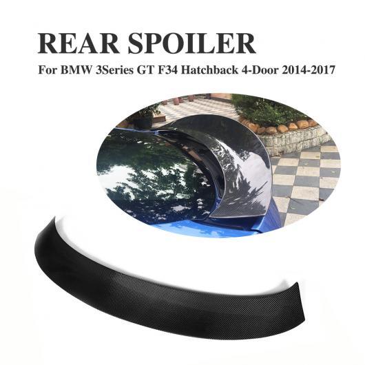 AL 車用外装パーツ カーボンファイバー リア ブート リップ トランク スポイラー ウイング 適用: BMW 3 シリーズ GT F34 ハッチバック 4ドア 2014-2017 AL-DD-7907