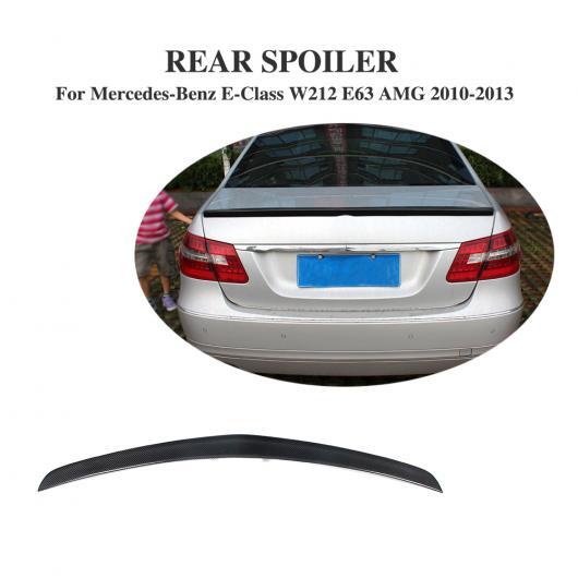 AL 車用外装パーツ カーボンファイバー リア スポイラー トランク ブート リップ ウイング 適用: メルセデスベンツ Eクラス W212 E63 AMG 2008-2013 AL-DD-7927