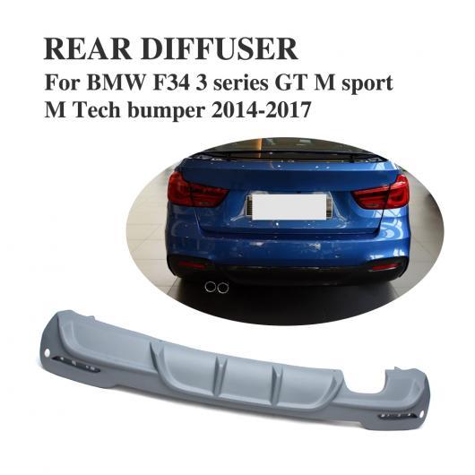 AL 車用外装パーツ FRP グレー プライマー リア バンパー リップ ディフューザー 適用: BMW Mスポーツ Mテック バンパー 2014-2017 AL-DD-7954