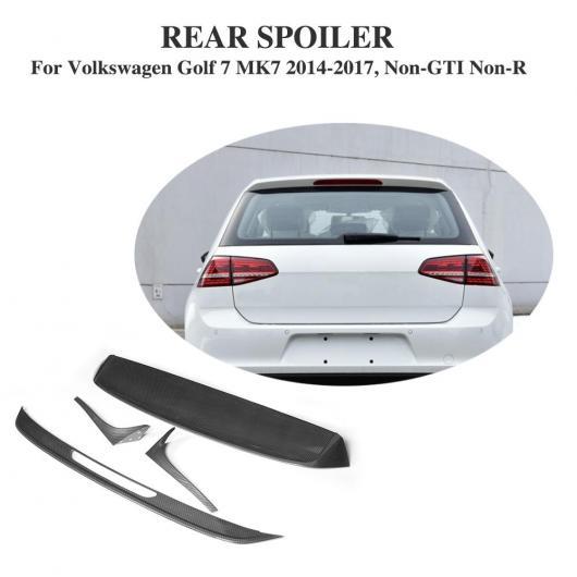 AL 車用外装パーツ カーボンファイバー 塗装調 リア ルーフ スポイラー ウインドウ ウイング 適用: フォルクスワーゲン VW ゴルフ 7 VII MK7 スタンダード 2014-2017 AL-DD-7968