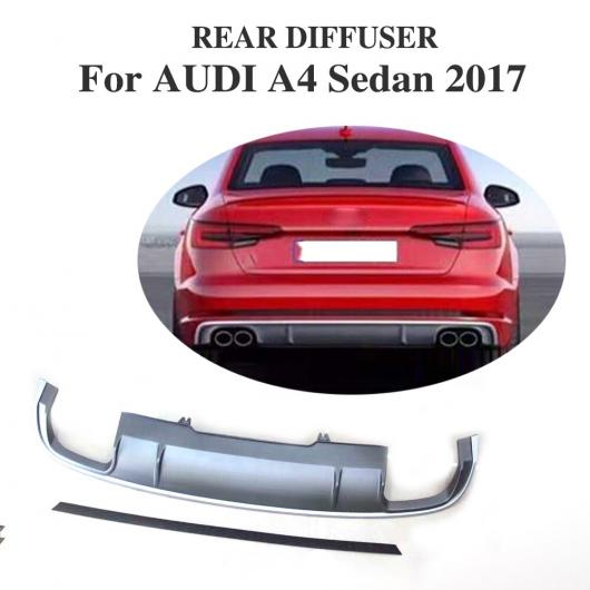 AL 車用外装パーツ PP リア バンパー リップ ディフューザー スポイラー 適用: アウディ A4 セダン スタンダード バンパー 2017 エキゾースト ディフューザー AL-DD-8044
