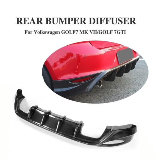 AL 車用外装パーツ カーボンファイバー リア バンパー ディフューザー リップ スポイラー 適用: フォルクスワーゲン VW ゴルフ 7 VII GTI 2014-2016 4本出し・左右1本出し AL-DD-8045