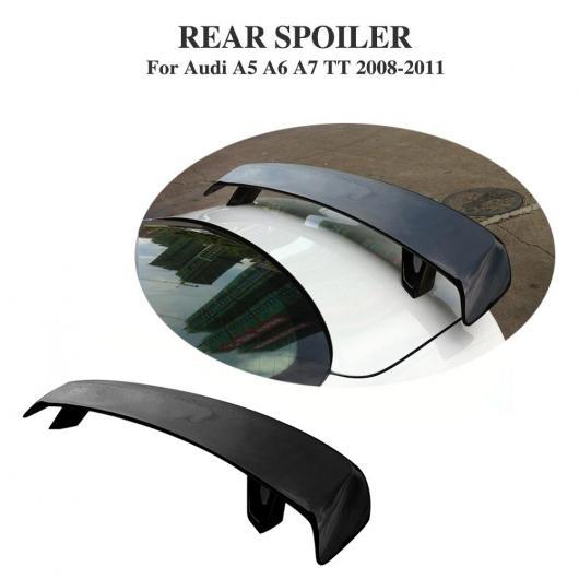 AL 車用外装パーツ リア トランク ブート ハイ テール スポイラー ウイング 適用: アウディ A5 A6 A7 TT 2008-2011 FRP 未塗装 ブラック プライマー AL-DD-8065