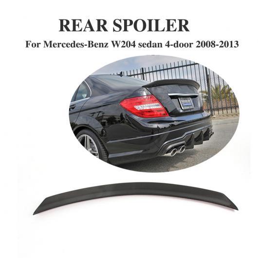 AL 車用外装パーツ 適用: W204 カーボンファイバー リア トランク ブート リップ スポイラー ウイング 適用: メルセデスベンツ C-CLASS W204 C180 C200 C250 C300 セダン 2008-2013 AL-DD-8077
