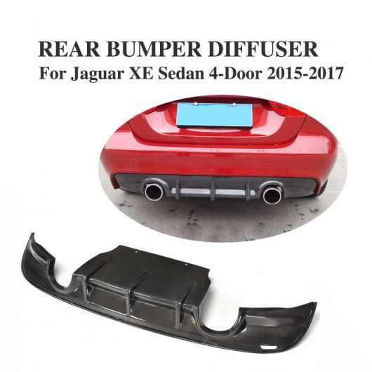 AL 車用外装パーツ カーボンファイバー リア バンパー リップ ディフューザー スポイラー 適用: ジャガー XE セダン 4ドア 2015-2017 AL-DD-8080