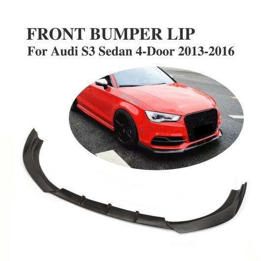 AL 車用外装パーツ フロント バンパー リップ チン スポイラー 適用: アウディ S3 セダン 4ドア 2013-2016 FRP ブラック AL-DD-8089