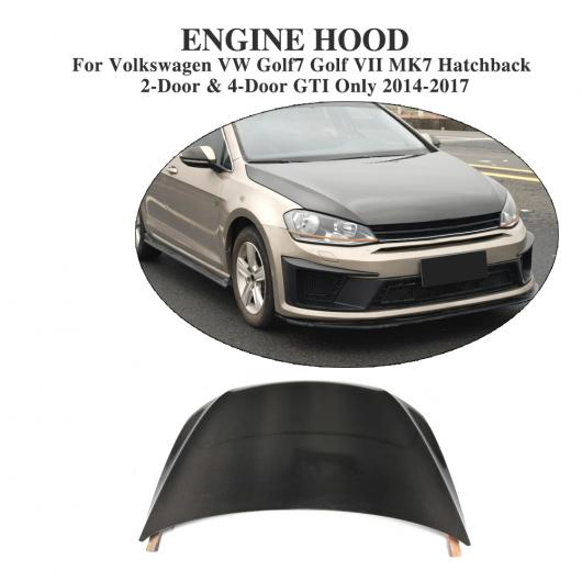 AL 車用外装パーツ カーボンファイバー フロント ボンネット フード カバー 適用: フォルクスワーゲン VW ゴルフ 7 VII MK7 ハッチバック GTI R 2014-2017 AL-DD-8151
