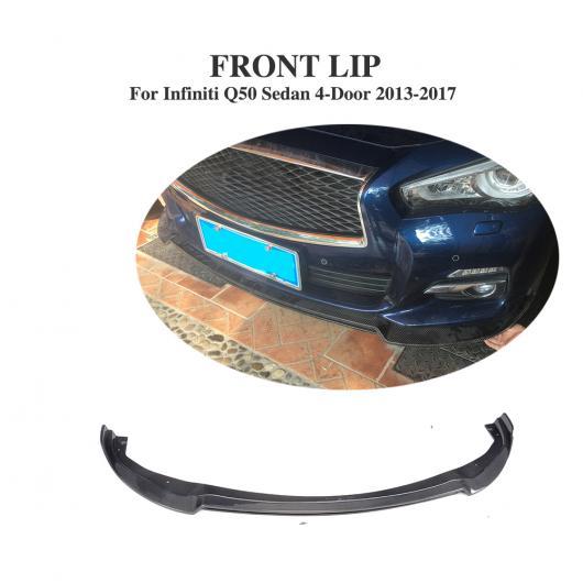 AL 車用外装パーツ カーボン ファイバー フロント バンパー リップ チン 適用: インフィニティ Q50 スタンダード セダン 4ドア 2013-2017 AL-DD-8157
