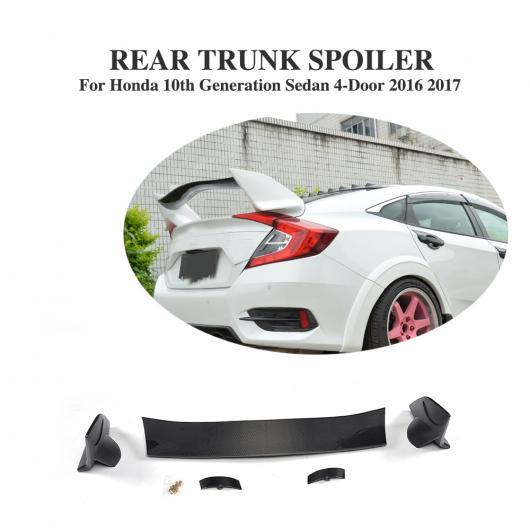 AL 車用外装パーツ ABS カーボンファイバー リア ブート スポイラー スポイラー 適用: ホンダ シビック 10世代 世代 セダン 4ドア 2016 2017 AL-DD-8160