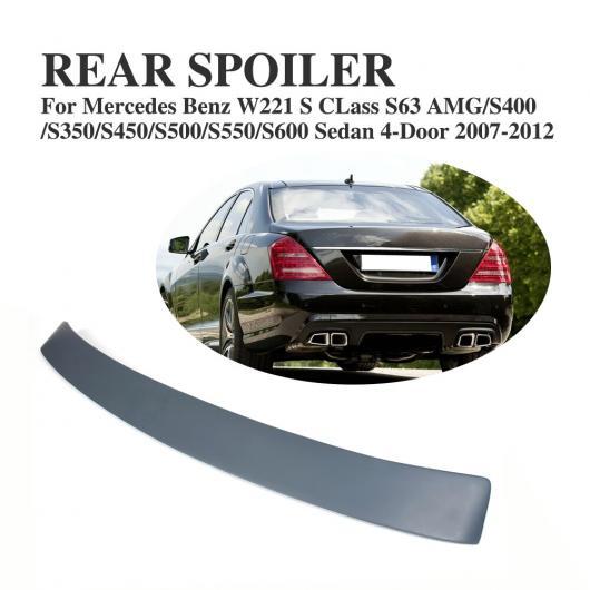 AL 車用外装パーツ リア ルーフ スポイラー テール ウインドウ ウイング 適用: メルセデスベンツ Sクラス W221 S63 AMG セダン 4ドア 2007-2012 ABS グレー AL-DD-8169