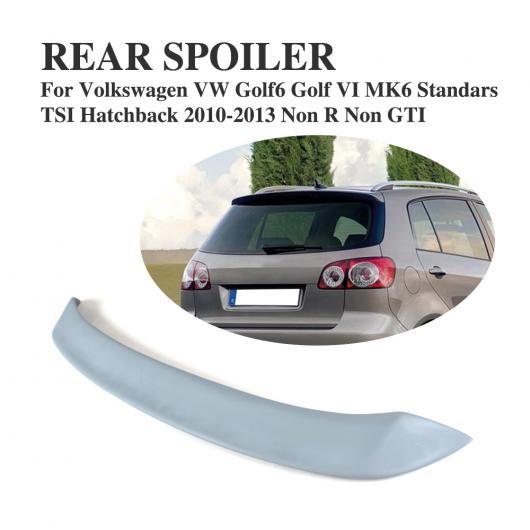 AL 車用外装パーツ リア ルーフ スポイラー ウインドウ ウイング 適用: フォルクスワーゲン VW ゴルフ 6 VI MK6 スタンダード 2010-2013 除く R 除く GTI FRP 未塗装 グレー AL-DD-8178