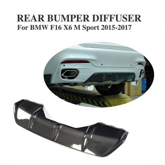 AL 車用外装パーツ カーボンファイバー リア バンパー レース ディフューザー リップ スポイラー 適用: BMW X6 F16 xDrive 35i xDrive 50i Mスポーツ ユーティリティ 4ドア 2015-2017 AL-DD-8234