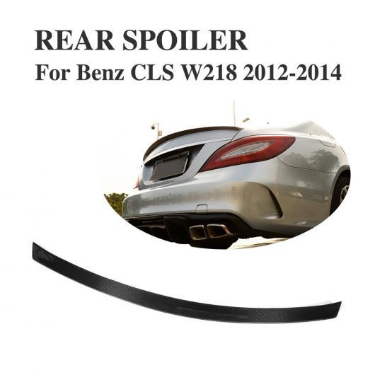 AL 車用外装パーツ カーボンファイバー ブラック リア ブート ダック スポイラー トランク ステッカー ウイング 適用: ベンツ CLSクラス W218 2012-2014 AL-DD-8272