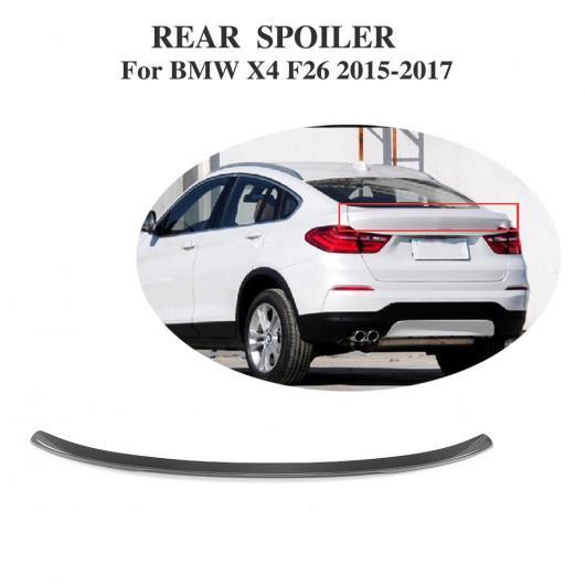AL 車用外装パーツ カーボンファイバー リア スポイラー ウインドウ ウイング 適用: BMW F26 X4 SUV Mスポーツ 2015-2017 AL-DD-8282