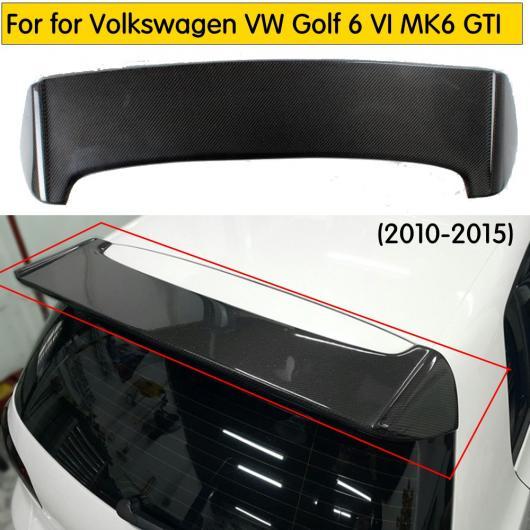 AL 車用外装パーツ カーボンファイバー ブラック リア ルーフ スポイラー テール トランク ウイング 適用: フォルクスワーゲン VW ゴルフ 6 VI MK6 GTI 2010-2013 AL-DD-8346