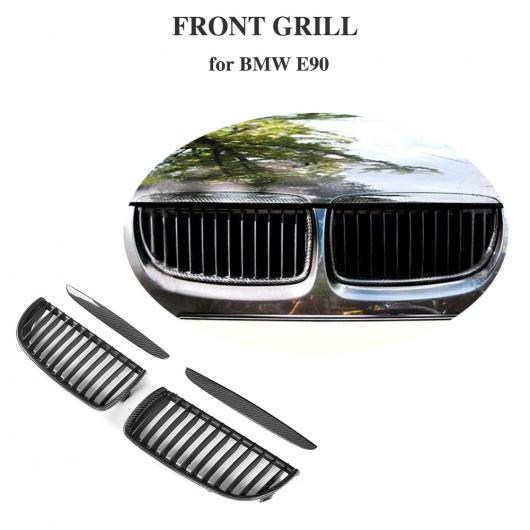 AL 車用外装パーツ 3 シリーズ フロント メッシュ グリッド カーボンファイバー フロント バンパー グリル 適用: BMW E90 セダン 4 ドア 2005-2008 320i 323i 325i 328i 330i 335i AL-DD-8368