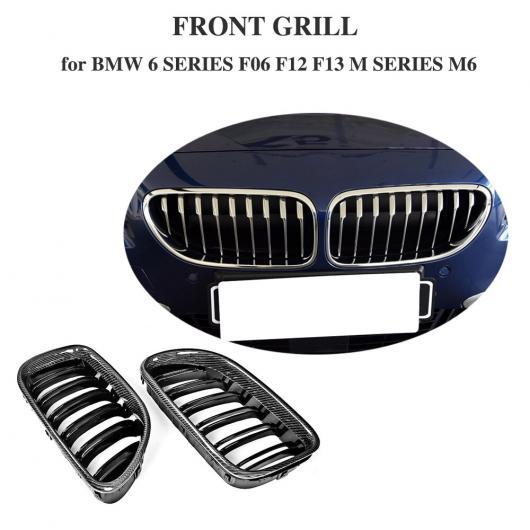 AL 車用外装パーツ カーボンファイバー フロント バンパー グリッド カバー トリム 適用: BMW 6 シリーズ F06 F12 F13 2ドア 2012-2013 M6 650i Mスポーツ コンバーチブル AL-DD-8369