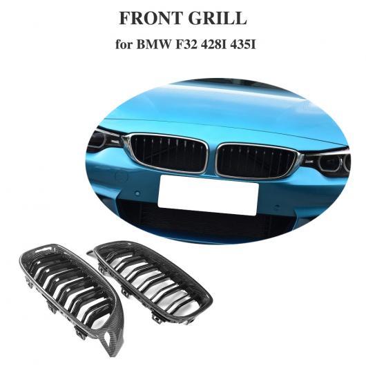 AL 車用外装パーツ 4 シリーズ カーボンファイバー フロント バンパー グリル メッシュ グリル 適用: BMW F32 F33 F80 M3 F82 F83 M4 クーペ コンバーチブル 14-17 430i 428i AL-DD-8370