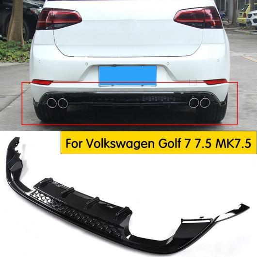 AL 車用外装パーツ リア リップ ディフューザー スポイラー 適用: VW フォルクスワーゲン ゴルフ 7 7.5 MK7.5 スタンダード GTI 2017 2018 2019 PP プラスチック ブラック AL-DD-8396