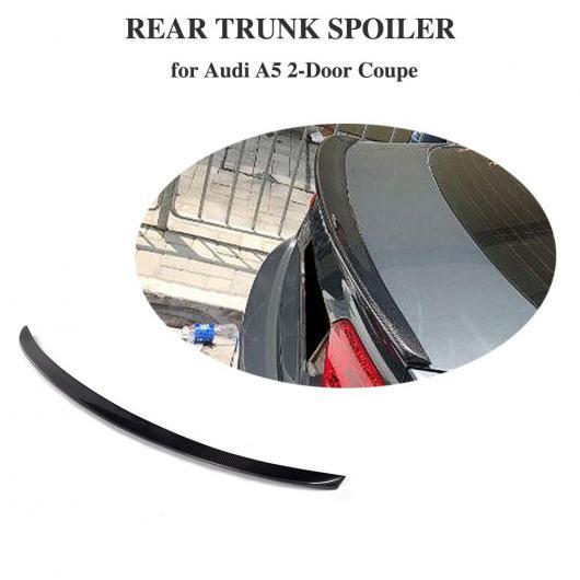 AL 車用外装パーツ カーボンファイバー リア トランク スポイラー ウイング ブート リップ 適用: アウディ A5 2ドア クーペ 2017 2018 2019 AL-DD-8414