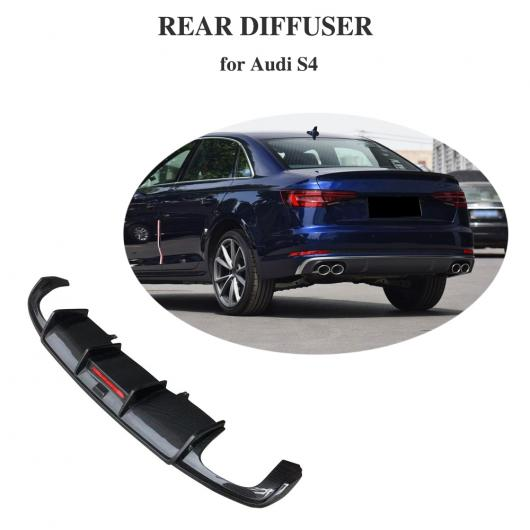 AL 車用外装パーツ 適用: S4 カーボンファイバー リア バンパー ディフューザー リップ スポイラー 適用: アウディ A4 Sライン S4 A4 セダン 4 ドア 2018 AL-DD-8416