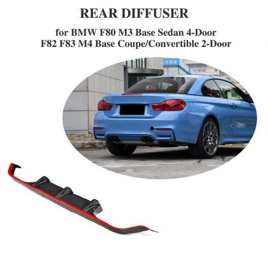 AL 車用外装パーツ カーボンファイバー リア バンパー リップ スポイラー ディフューザー 適用: BMW 4 シリーズ F80 M3 F82 F83 M4 14-17 スタンダード コンバーチブル レッド ライン AL-DD-8421