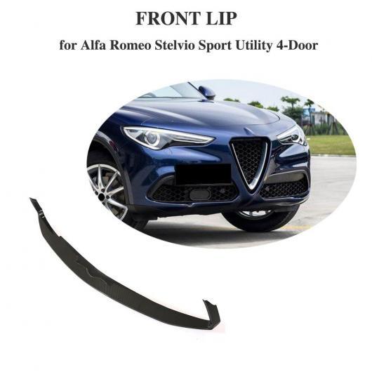 AL 車用外装パーツ フロント バンパー メンバー 適用: アルファ ロミオ ステルヴィオ 2017 ベース スポーツ ユーティリティ 4ドア カーボンファイバー バンパー エプロン リップ スポイラー AL-DD-8432