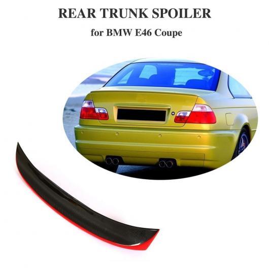AL 車用外装パーツ リア トランク リップ スポイラー 適用: BMW E46 ベース クーペ 2ドア 1998-2005 カーボンファイバー トランク 保護 リア スポイラー AL-DD-8436