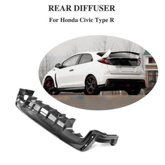 AL 車用外装パーツ リア バンパー リップ ディフューザー 適用: ホンダ シビック 2017 2018 タイプ R ハッチバック 4ドア カーボンファイバー リア バンパー エプロン スプリッタ プロテクター AL-DD-8449