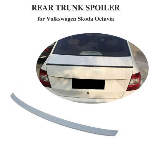 AL 車用外装パーツ ABS グレー プライマー 未塗装 適用: フォルクスワーゲン シュコダ オクタヴィア 2014 リア トランク スポイラー ブート ウイング リップ AL-DD-8468