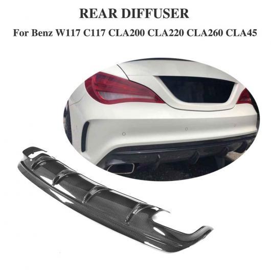 AL 車用外装パーツ カーボンファイバー ディフューザー 適用: メルセデスベンツ CLA W117 スポーツ CLA200 CLA250 スポーツ CLA45 AMG リア バンパー リップ スポイラー AL-DD-8470