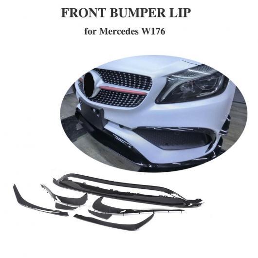 AL 車用外装パーツ 適用: メルセデスベンツ Aクラス W176 A200 A250 ABS フロント バンパー リップ カナード 8個セット A45 フロント バンパー スプリッタ 16-18 AL-DD-8481