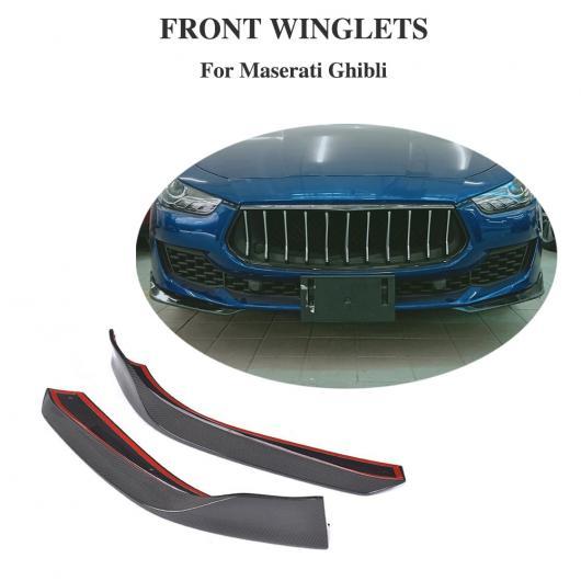 AL 車用外装パーツ カーボンファイバー フロント バンパー リップ スプリッター 適用: マセラティ ギブリ ベース セダン 2018 2019 AL-DD-8488