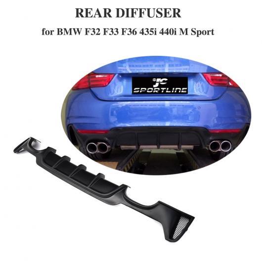 AL 車用外装パーツ ディフューザー エキゾースト チップ 適用: BMW F32 F33 4 シリーズ Mスポーツ 2014-2017 435i 420i カブリオレ 4本出し リア バンパー リップ AL-DD-8495
