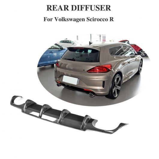 AL 車用外装パーツ リア バンパー リップ ディフューザー 適用: VW フォルクスワーゲン シロッコ R R20 バンパー 2015-2018 4本出し マフラー チップ AL-DD-8499