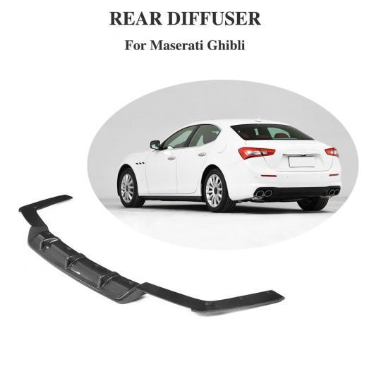 AL 車用外装パーツ カーボンファイバー ディフューザー 適用: マセラティ ギブリ ベース セダン 4ドア 2018 2019 リア バンパー リップ スプリッタ エプロン AL-DD-8500