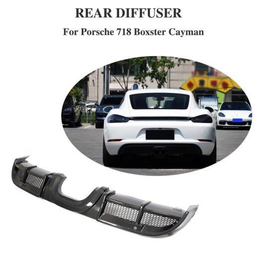 AL 車用外装パーツ カーボン ディフューザー リップ 適用: ポルシェ 718 2016-2018 リア バンパー ディフューザー スポイラー スプリッタ プロテクター AL-DD-8532
