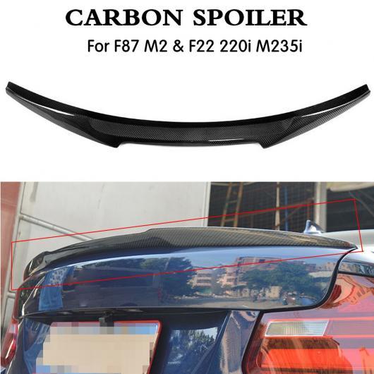 AL 車用外装パーツ リア リップ ウイング ブート スポイラー F87 カーボンファイバー リア トランク ウイング スポイラー 適用: BMW M2 F87 F22 220i 228i M235i 2014-2018 AL-DD-8569