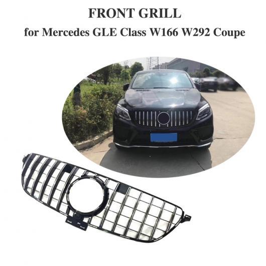 AL 車用外装パーツ GT R グリッド 適用: メルセデスベンツ GLEクラス GLE350 GLE400 GLE500 GLE550 GLE43 AMG GLE63 AMG フロント レーシング グリル 適用: W292 W166 2015-19 ブラック・シルバー AL-DD-8576