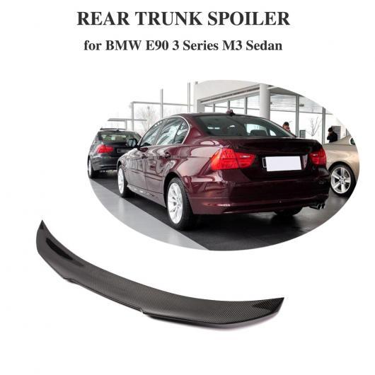 AL 車用外装パーツ カーボンファイバー リア トランク スポイラー ブート リップ ウイング 適用: BMW 3 シリーズ E90 ベース セダン Mテック M3 2005-2012 AL-DD-8580
