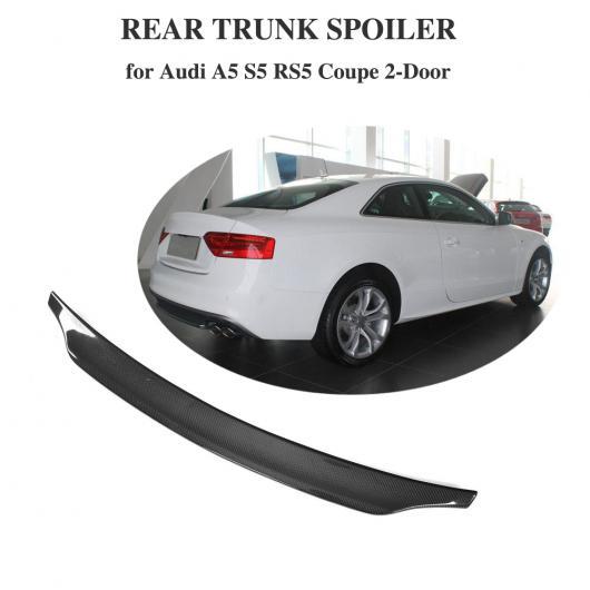 AL 車用外装パーツ カーボンファイバー リア トランク スポイラー ブート リップ ウイング 適用: A5 S5 Sライン RS5 2008-2016 クーペ AL-DD-8582