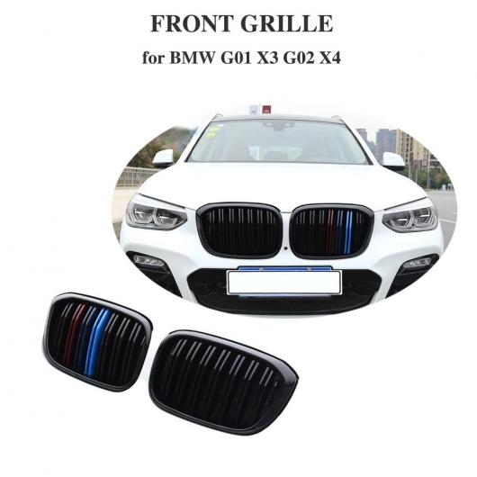 AL 車用外装パーツ スタイリング xDrive 20i xDrive 30i フロント グリル 適用: BMW X3 X4 バンパー レーシング グリル G01 G02 グロス M 2018+ グロス ブラック・マット ブラック AL-DD-8583