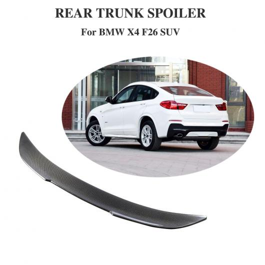 AL 車用外装パーツ リア スポイラー 適用: BMW X4 F26 2014-2017 カーボンファイバー トランク リップ ウイング プロテクター ブート メンバー AL-DD-8636