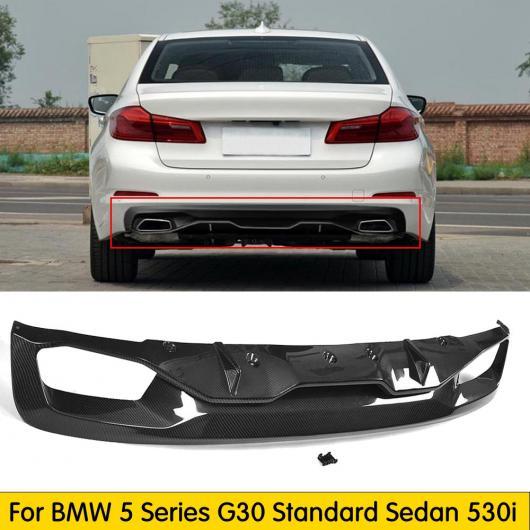 AL 車用外装パーツ G30 リア バンパー ディフューザー ロワー プロテクター 適用: BMW 5 シリーズ G30 スタンダード セダン 530i 530i xDrive 540i 540i xDrive カーボンファイバー AL-DD-8637