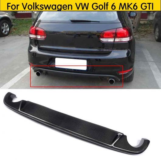 AL 車用外装パーツ カーボンファイバー リア バンパー リップ ディフューザー 適用: フォルクスワーゲン VW ゴルフ 6 MK6 GTI 2009-2012 AL-DD-8660